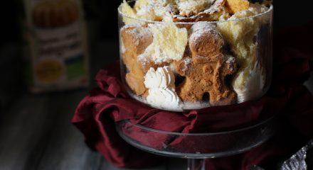 Trifle al pandoro con biscotti di pan di zenzero