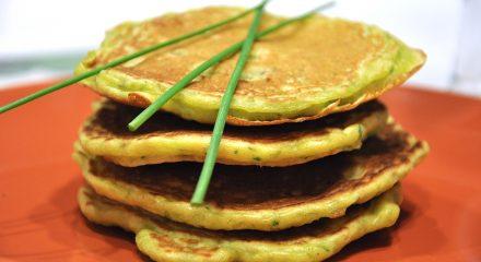 Pancake con farina di piselli
