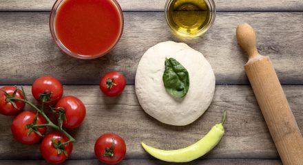 Impasto pizza fatta in casa
